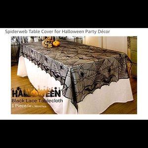 3 Halloween Spiderweb Tablecloths